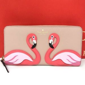 ➕ Kate spade flamingo wallet NWT multi by the pool